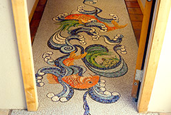 Celia Berry mosaic Aquatic Entryway