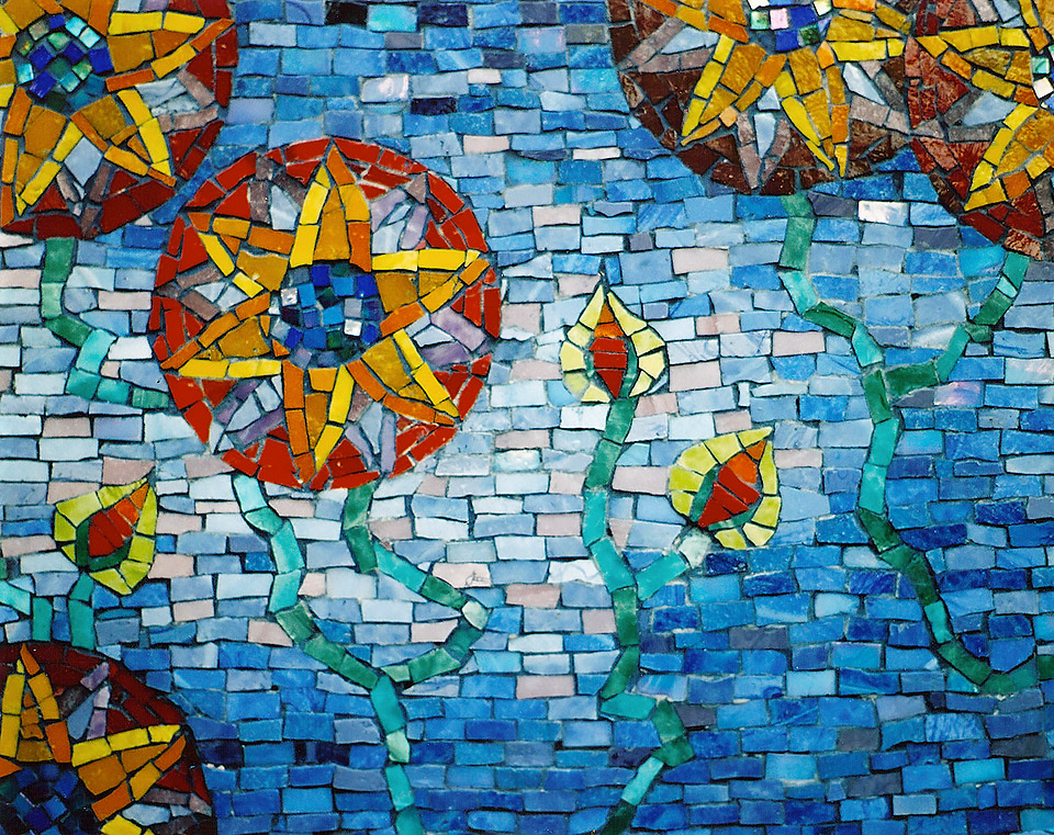 Celia Berry mosaic Arts & Crafts Pool Detail