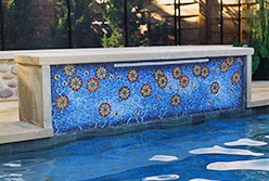 Celia Berry mosaic Arts & Crafts Pool