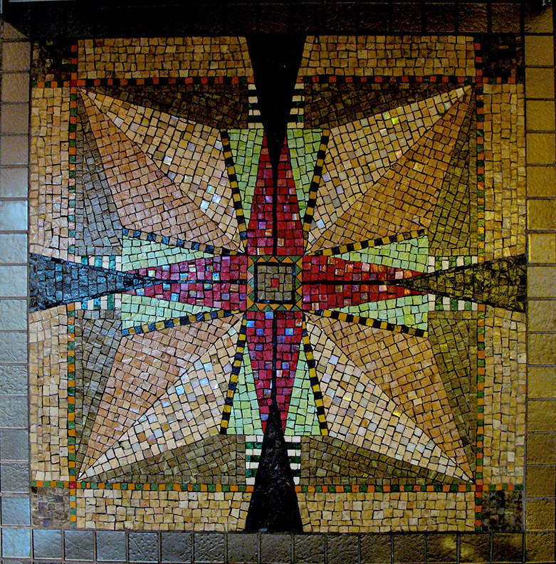 Celia Berry mosaic Frank Lloyd Wright Inspired Kitchen Wall