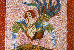 Celia Berry mosaic Rooster
