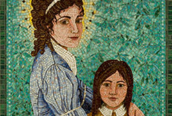 Celia Berry mosaic Saint Elizabeth Ann Seton With A Child