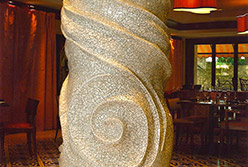 Celia Berry mosaic Gaudi Inspired Column