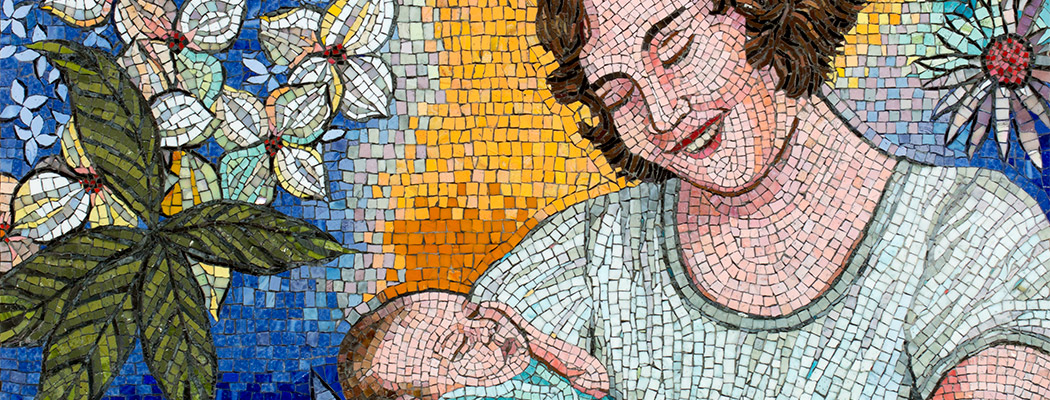 Celia Berry mosaic Mother & Child